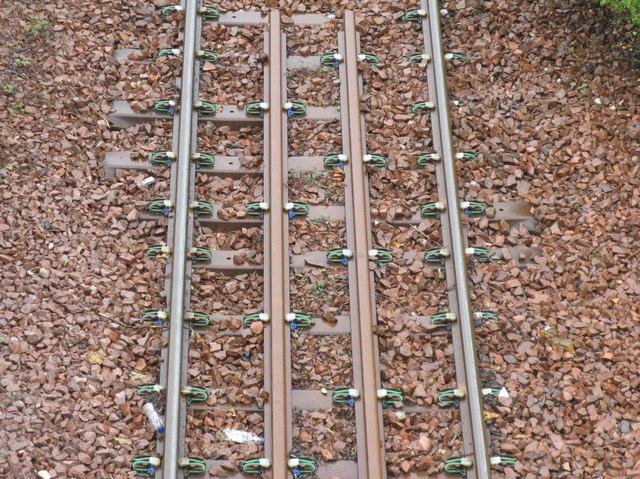 Railway line sleepers and ties
