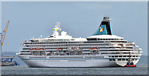 "J3677 : The ""Artania"" arriving at Belfast- August 2014(1) by Albert Bridge"