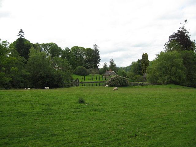 Lake in the park-Brampton Bryan, Herefordshire