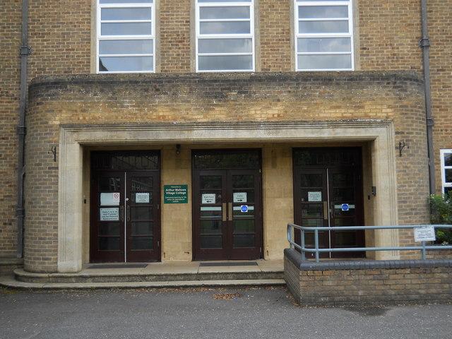 Main entrance to Arthur Mellows Village College, Glinton