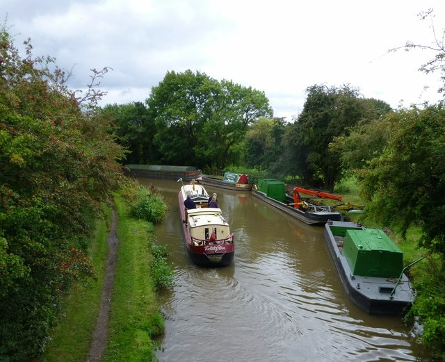 Narrowboat on the Coventry Canal