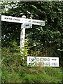 TL9933 : Roadsign on Church Road by Geographer
