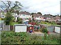 SP1079 : Back gardens and garages, Woodvale Road by Christine Johnstone