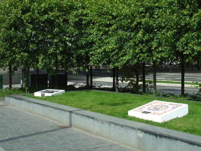 Cheapside Street fire memorial plaques