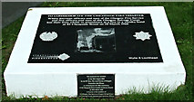 NS5864 : Cheapside Street fire memorial plaques by Thomas Nugent