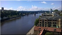 NZ2563 : Newcastle: looking upriver from the High Level Bridge by Christopher Hilton