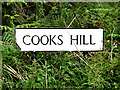 TM0033 : Cooks Hill sign by Geographer