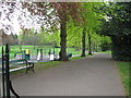 SP0481 : Way in to the park-Bournville, Birmingham by Martin Richard Phelan