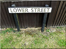 TM0434 : Lower Street sign by Adrian Cable