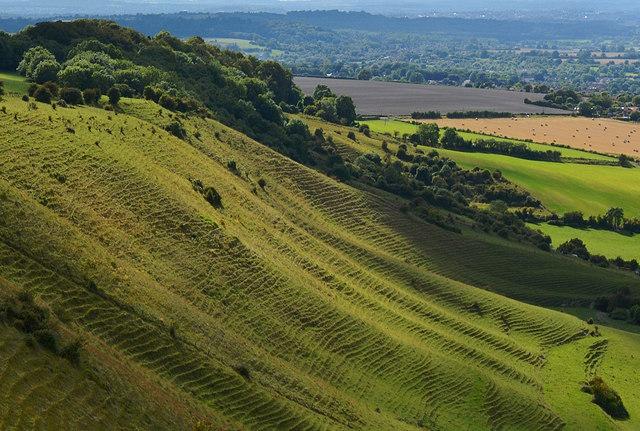 View southwest of Bratton Camp, Wiltshire