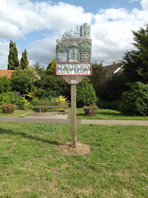 Stratford St.Mary Village sign