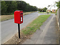 TM0434 : Higham Road &  Strickmere Postbox by Geographer