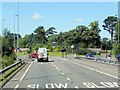 SJ8479 : A34, Wilmslow-Handforth Bypass approaching Whitehall Bridge Roundabout by David Dixon