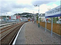 NM8529 : Oban railway station, Argyll and Bute by Nigel Thompson
