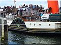 NR9251 : PS Waverley docking at Lochranza by sylvia duckworth