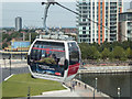 TQ4080 : Emirates Cable Car across the Thames, London E1 by Christine Matthews