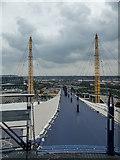 TQ3980 : Walkway, O2 Arena, Greenwich by Christine Matthews