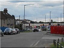 TQ6174 : Lower Road Northfleet, looking towards Stonebridge Road by Danny P Robinson