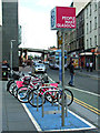 NS5864 : Nextbike Glasgow cycle hire point: St Enoch Square by Thomas Nugent