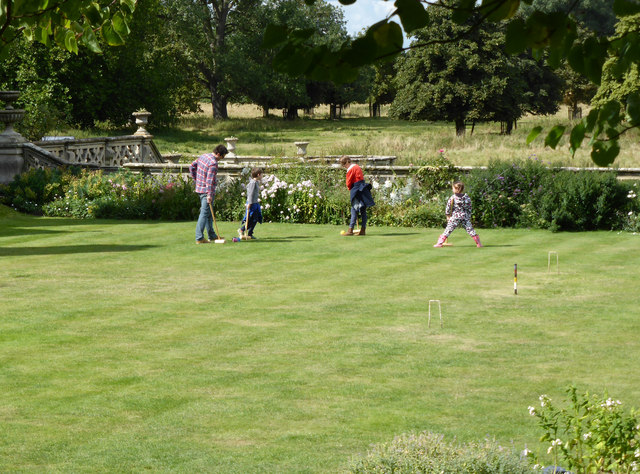 Charlecote Park - playing croquet