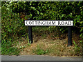 TM1242 : Cottingham Road sign by Adrian Cable
