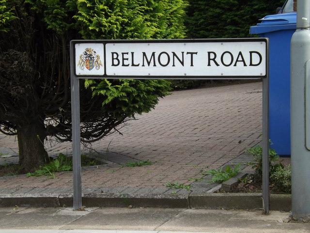 Belmont Road sign