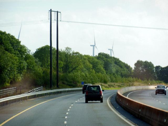 The M7 / E20 towards junction 21