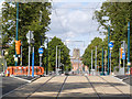 SK5738 : Robin Hood Way tramway crossing by Alan Murray-Rust