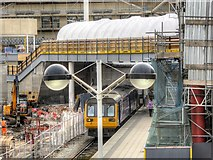 SJ8499 : New Footbridge at Victoria Station by David Dixon
