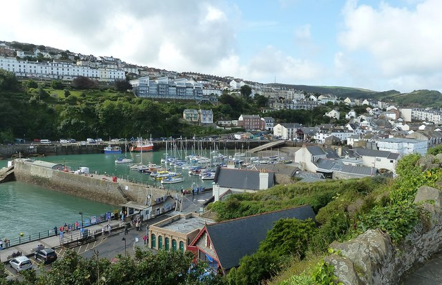 Ilfracombe and its harbour from Lantern Hill