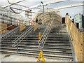 SJ8499 : Manchester Victoria Redevelopment - New Footbridge To Arena by David Dixon