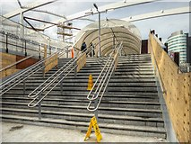 SJ8499 : Manchester Victoria Redevelopment - New Footbridge To Arena by David Dixon