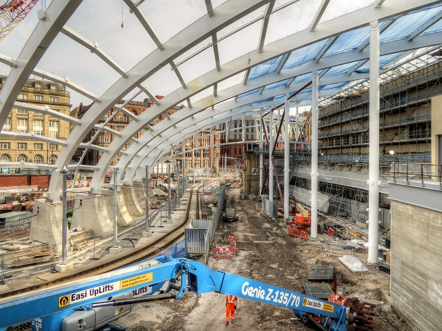New Roof Under Construction at Manchester Victoria Station