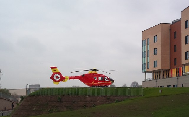 Midlands Air Ambulance at the University Hospital of North Staffordshire