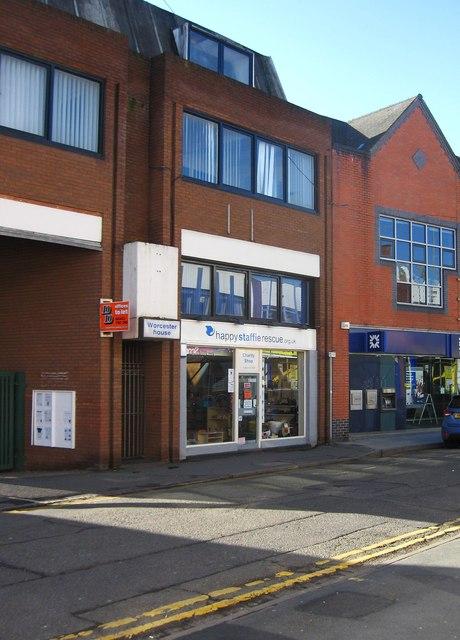 Happy Staffie Rescue charity shop, Worcester House, 54 Worcester Street, Kidderminster