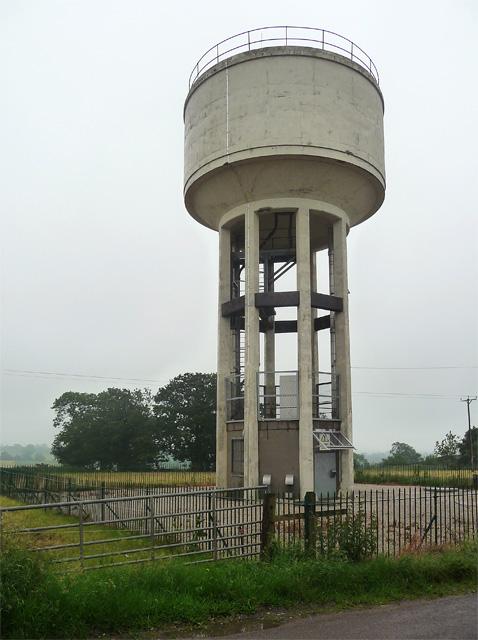 Water tower near Brailsford