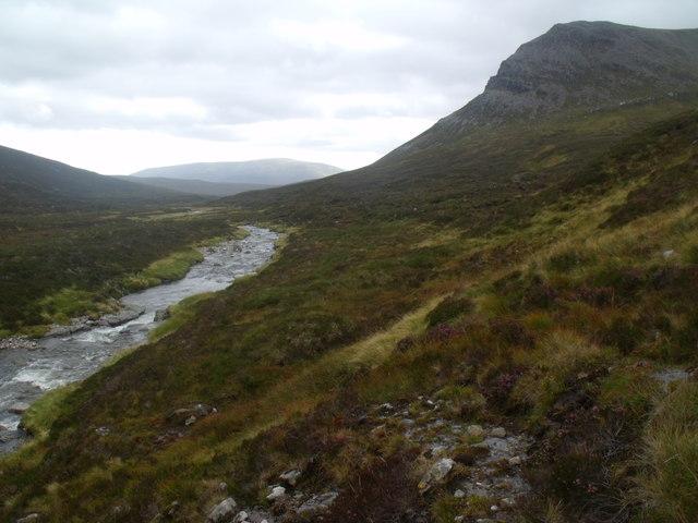 West bank of River Eidart, Glenfeshie