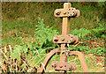 J3268 : Old cast-iron fence post, Minnowburn, Belfast (September 2014) by Albert Bridge