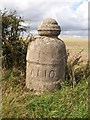 SE8457 : Detail of bollard at field entrance by Christopher Hall