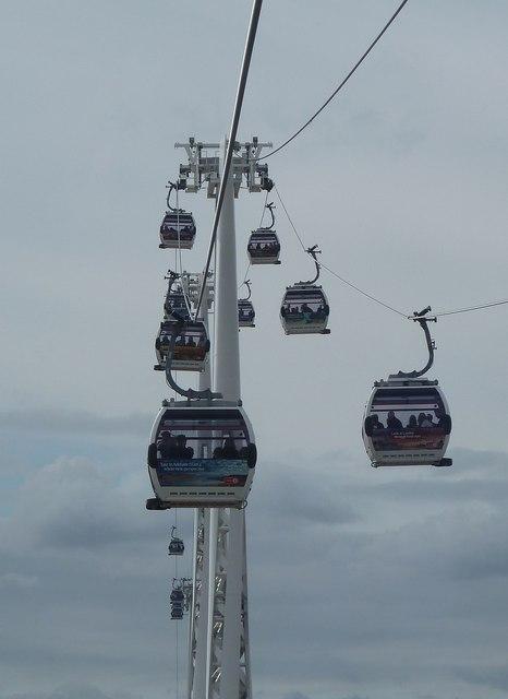 Emirates Cable Car - Gondolas in flight