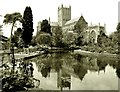 ST5545 : Saint Andrew's Well and Cathedral by Des Blenkinsopp