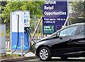 J3171 : E-car charging point, Balmoral, Belfast (September 2014) by Albert Bridge