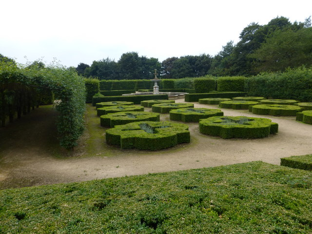 The formal garden at Temple Newsam