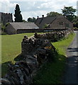 SO9308 : Cotswold stone wall in Miserden by Jaggery