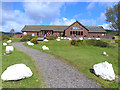 NR8568 : Farm shop, Tarbert by Oliver Dixon