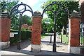 TQ2579 : Gate piers, Holland Park by N Chadwick