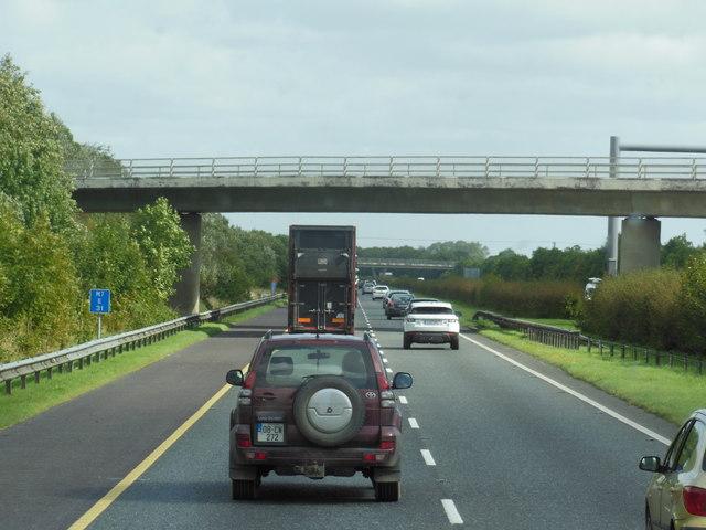 The M7 / E20 towards junction 10