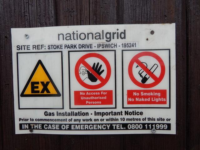 National Grid 195241 sign