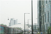TQ3980 : View of the Emirates Air Line Greenwich Peninsula terminal from Penrose Way by Robert Lamb