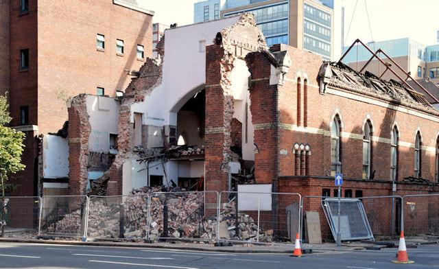 Gt Victoria Street Baptist church (demolition) - September 2014(1)